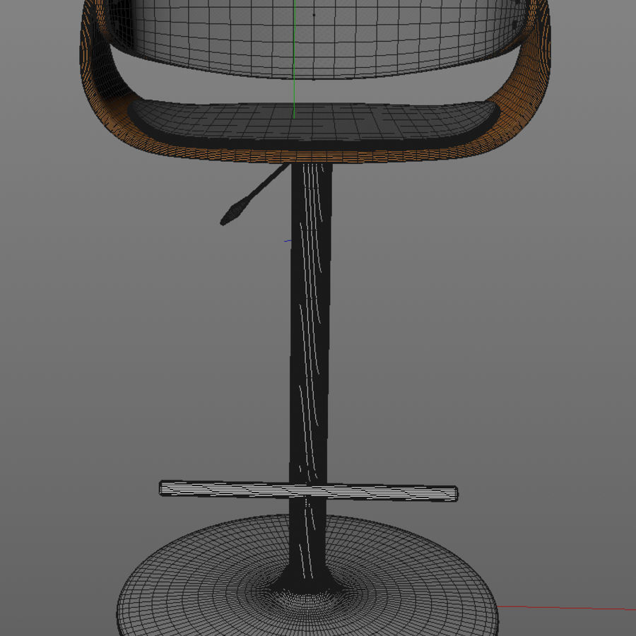 Bar Stool royalty-free 3d model - Preview no. 7