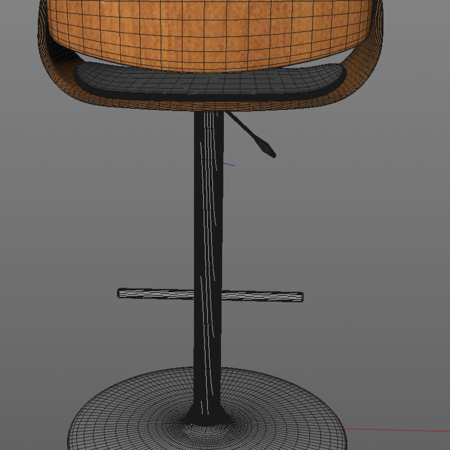 Bar Stool royalty-free 3d model - Preview no. 10