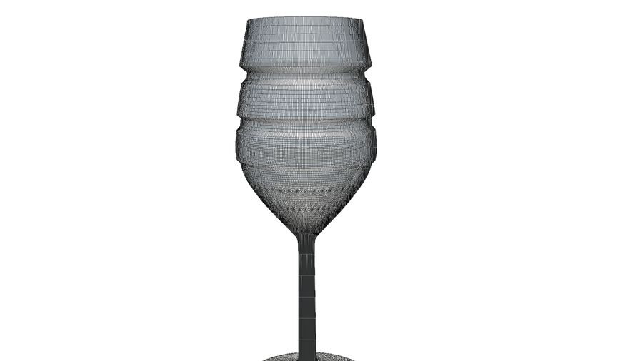 Wine Glass royalty-free 3d model - Preview no. 10