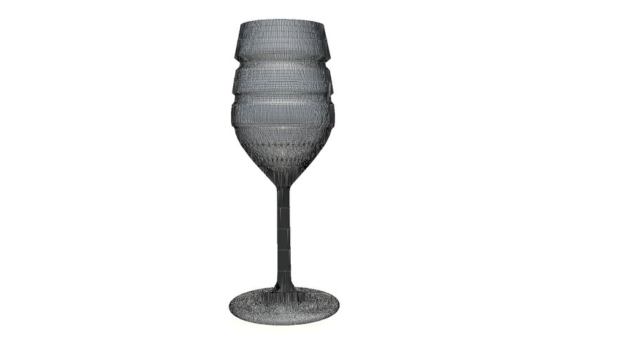 Wine Glass royalty-free 3d model - Preview no. 11