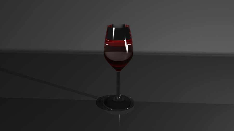 Wine Glass royalty-free 3d model - Preview no. 1