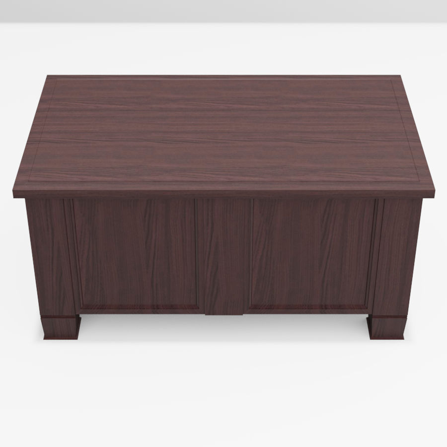 Dark Wood Coffee Table 3d Model 15 Obj Fbx Blend 3ds Free3d