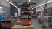 Бутылка рыбьего жира 3d model