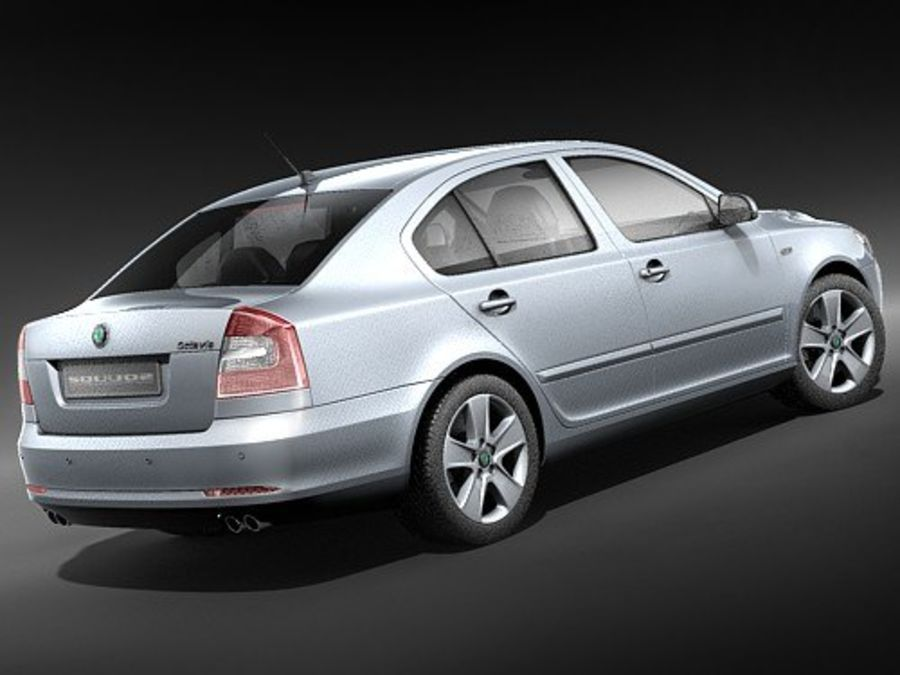 Skoda Octavia 2009 Limousine royalty-free 3d model - Preview no. 5