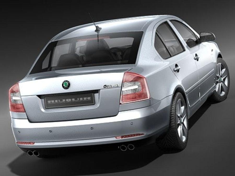 Skoda Octavia 2009 Limousine royalty-free 3d model - Preview no. 6