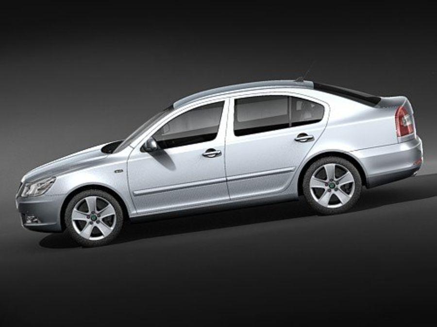 Skoda Octavia 2009 Limousine royalty-free 3d model - Preview no. 7