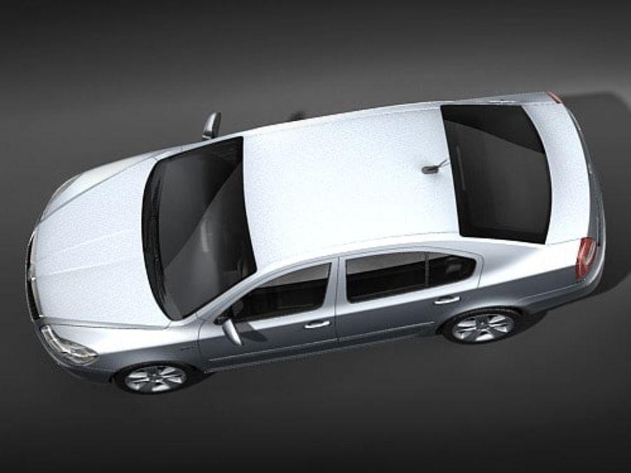 Skoda Octavia 2009 Limousine royalty-free 3d model - Preview no. 8