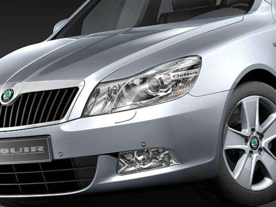 Skoda Octavia 2009 Limousine royalty-free 3d model - Preview no. 3