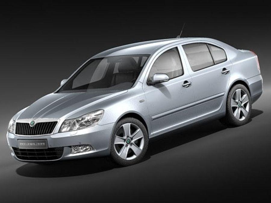 Skoda Octavia 2009 Limousine royalty-free 3d model - Preview no. 1