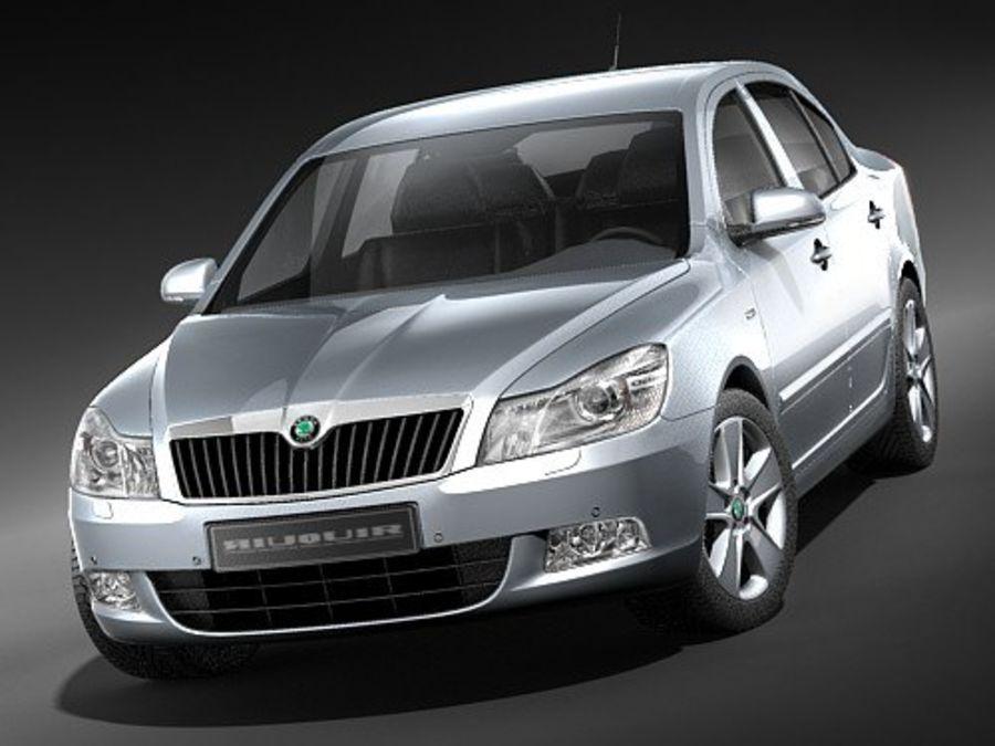 Skoda Octavia 2009 Limousine royalty-free 3d model - Preview no. 2