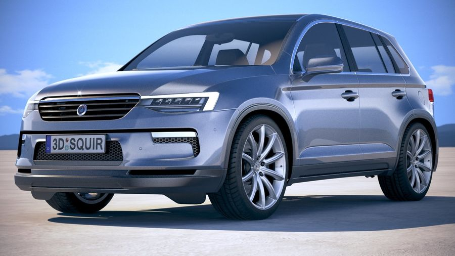 Generic SUV crossover 2018 royalty-free 3d model - Preview no. 13