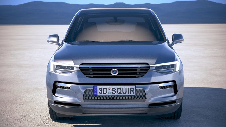 Generic SUV crossover 2018 royalty-free 3d model - Preview no. 10