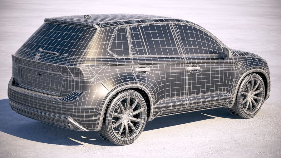 Generic SUV crossover 2018 royalty-free 3d model - Preview no. 21