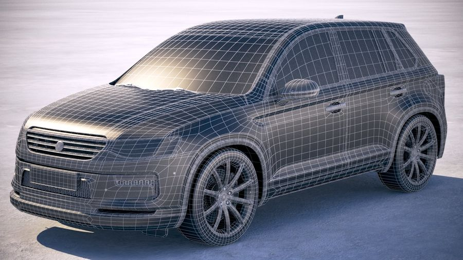 Generic SUV crossover 2018 royalty-free 3d model - Preview no. 20