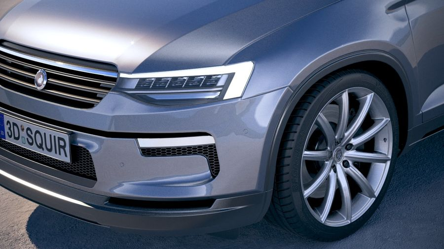 Generic SUV crossover 2018 royalty-free 3d model - Preview no. 3