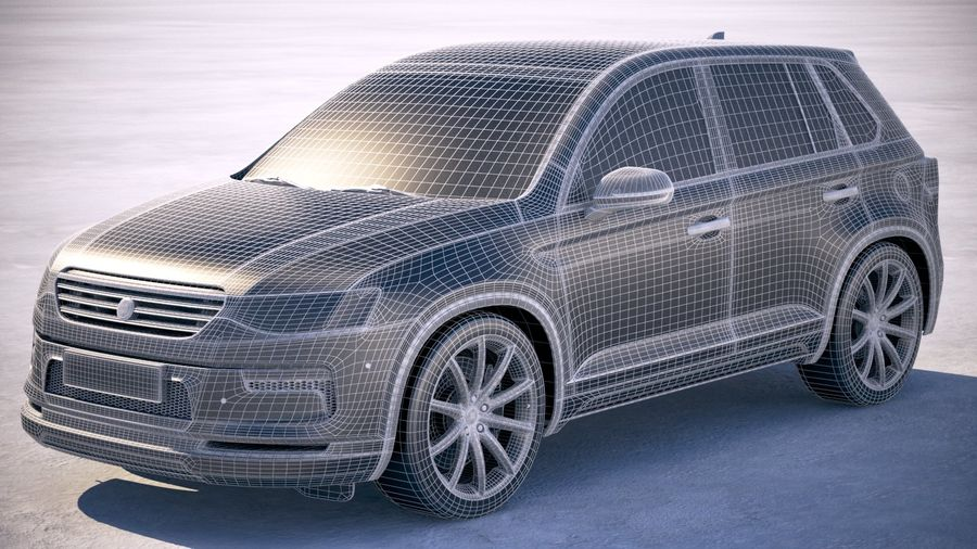 Generic SUV crossover 2018 royalty-free 3d model - Preview no. 18