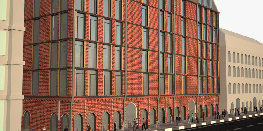 Gebouw royalty-free 3d model - Preview no. 2