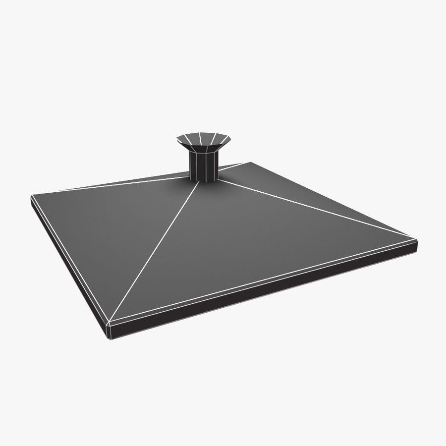 Duschkopf Platz royalty-free 3d model - Preview no. 4