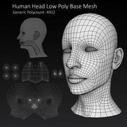 Cabeza masculina humana Low Poly modelo 3d