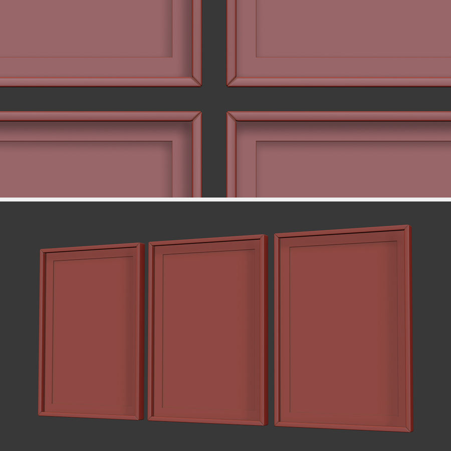 Picture Frames Set -7 royalty-free 3d model - Preview no. 7