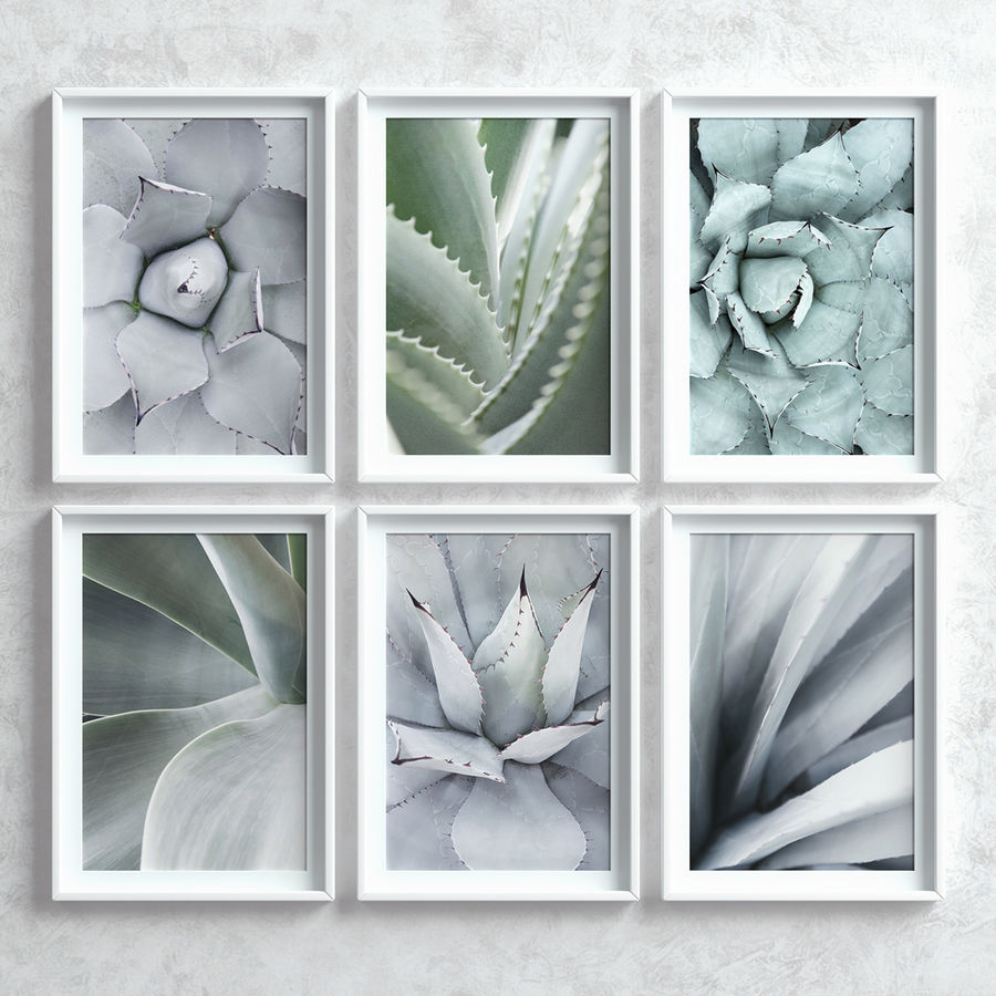 Picture Frames Set -7 royalty-free 3d model - Preview no. 4