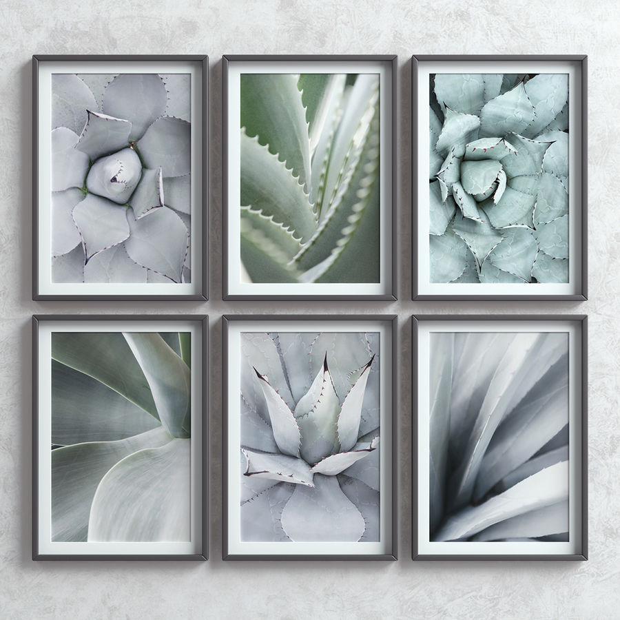 Picture Frames Set -7 royalty-free 3d model - Preview no. 2