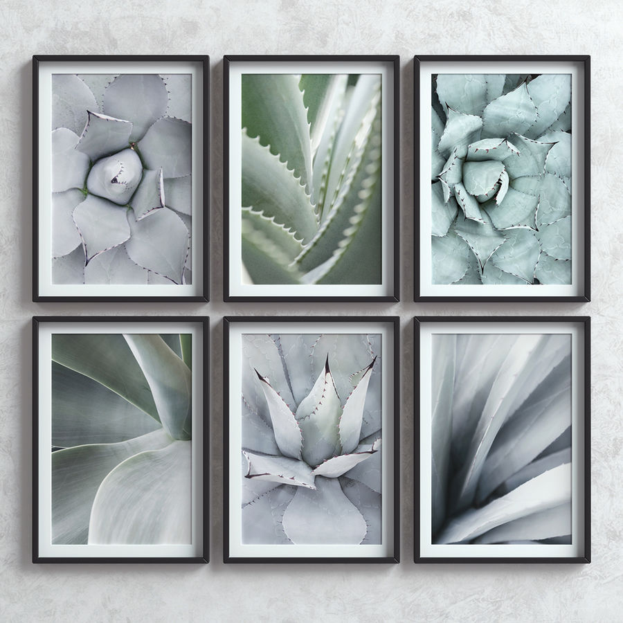 Picture Frames Set -7 royalty-free 3d model - Preview no. 1