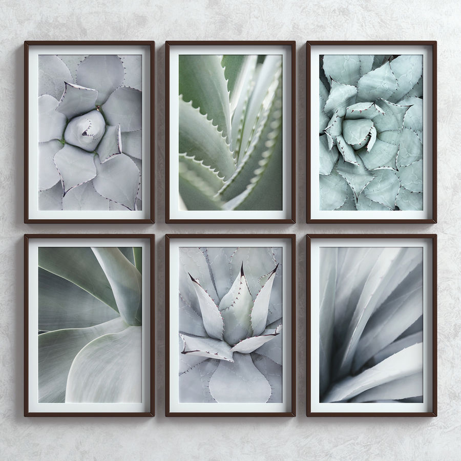 Picture Frames Set -7 royalty-free 3d model - Preview no. 5