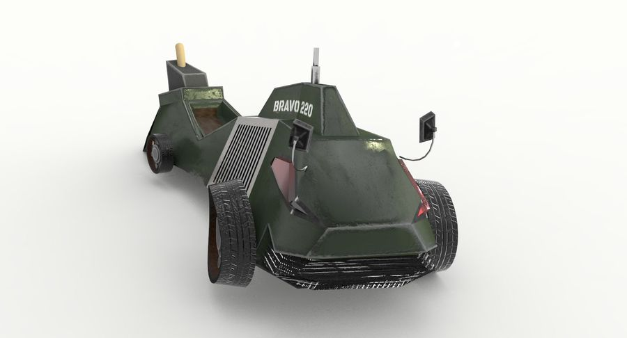 Concept Vehicle royalty-free 3d model - Preview no. 4