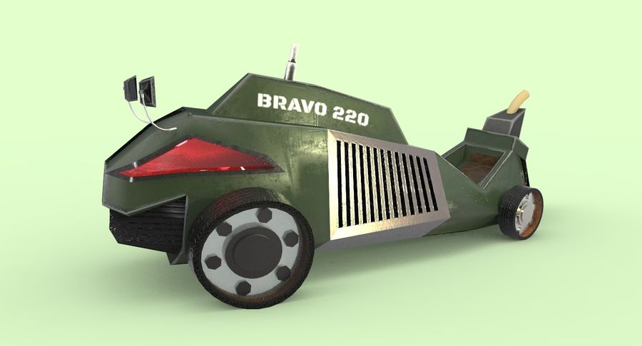 Concept Vehicle royalty-free 3d model - Preview no. 2