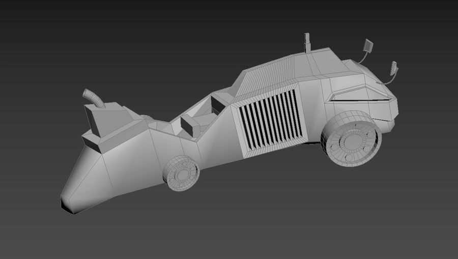 Concept Vehicle royalty-free 3d model - Preview no. 10