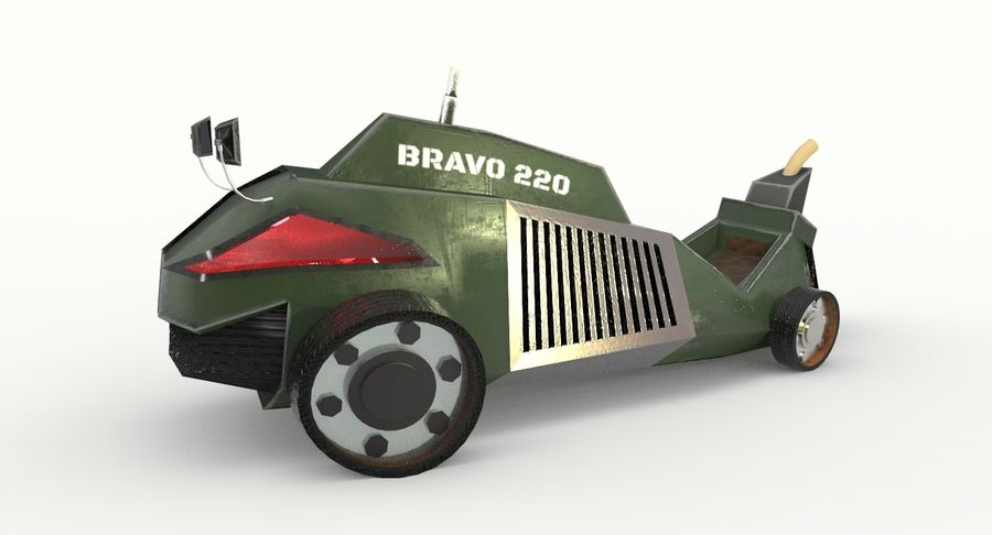 Concept Vehicle royalty-free 3d model - Preview no. 3