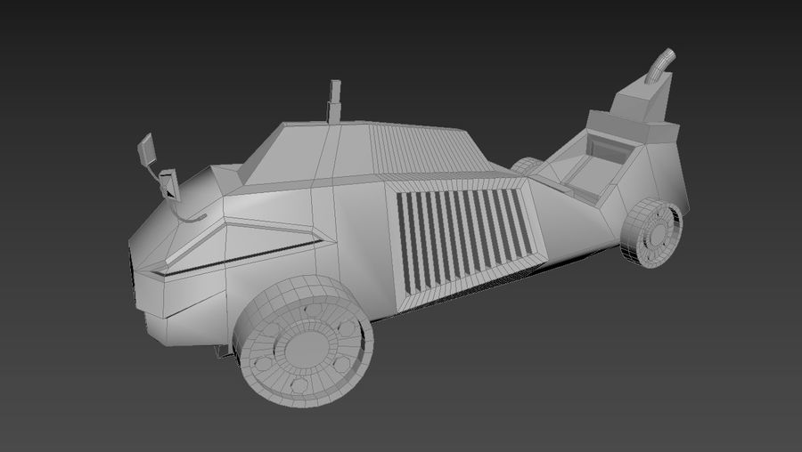 Concept Vehicle royalty-free 3d model - Preview no. 9