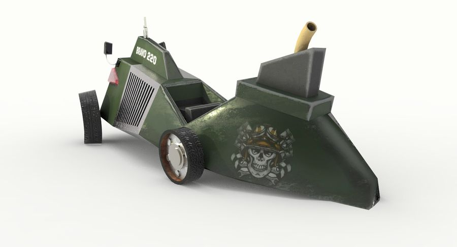 Concept Vehicle royalty-free 3d model - Preview no. 6