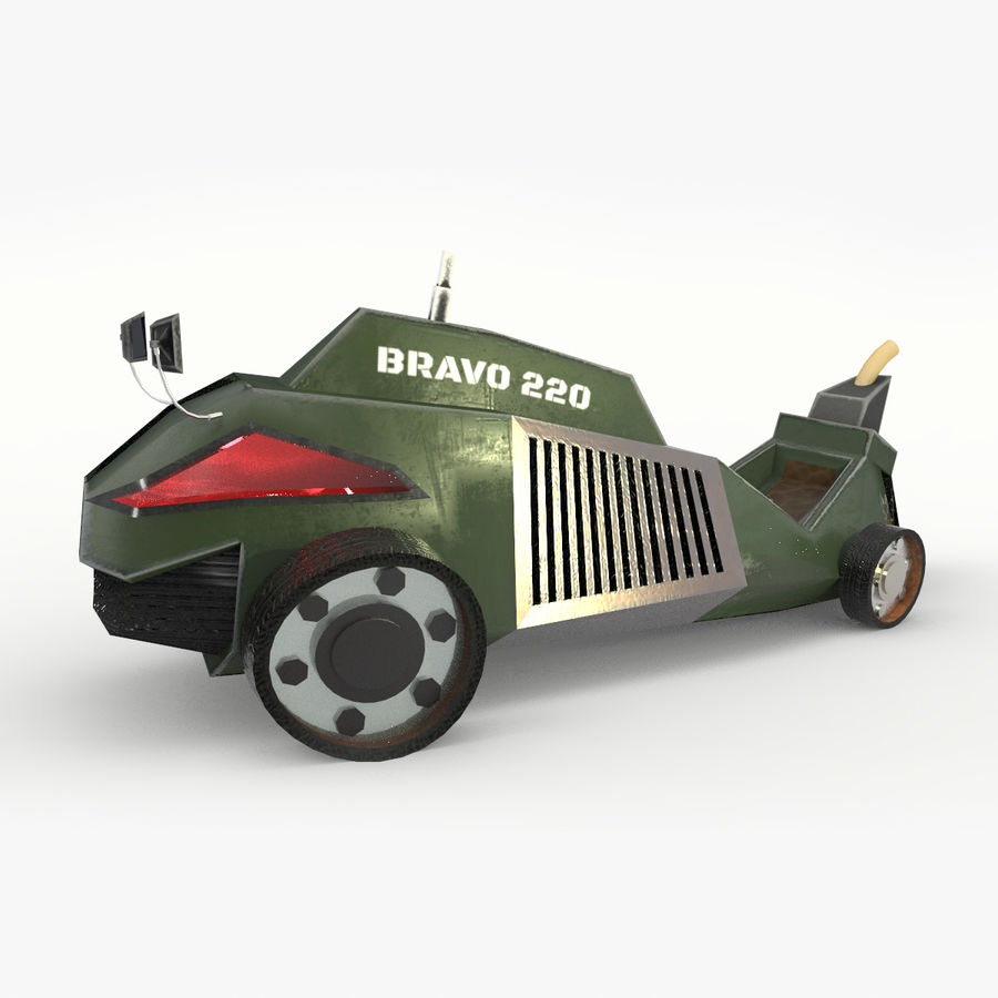 Concept Vehicle royalty-free 3d model - Preview no. 8
