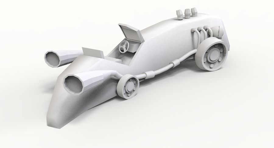 Concept Vehicle royalty-free 3d model - Preview no. 12