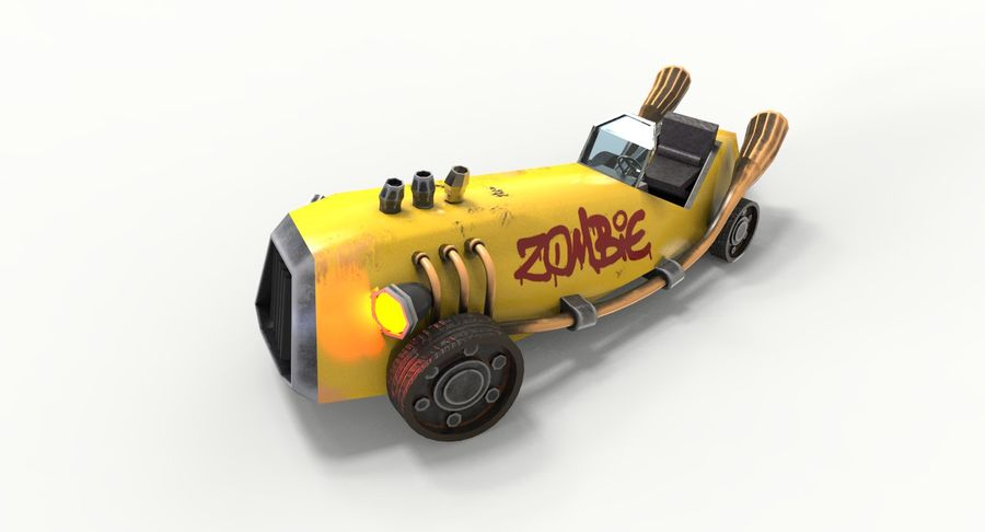 Concept Vehicle royalty-free 3d model - Preview no. 5