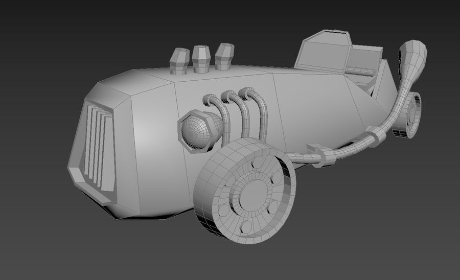 Concept Vehicle royalty-free 3d model - Preview no. 13