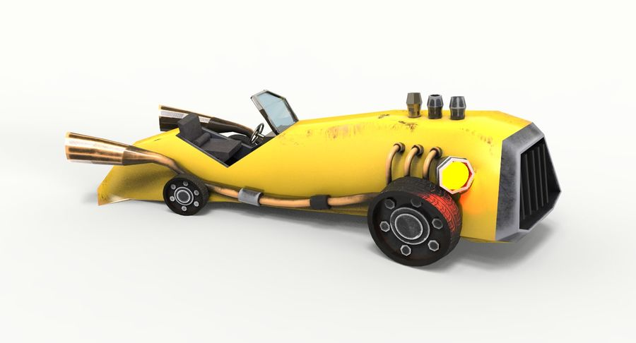 Concept Vehicle royalty-free 3d model - Preview no. 7