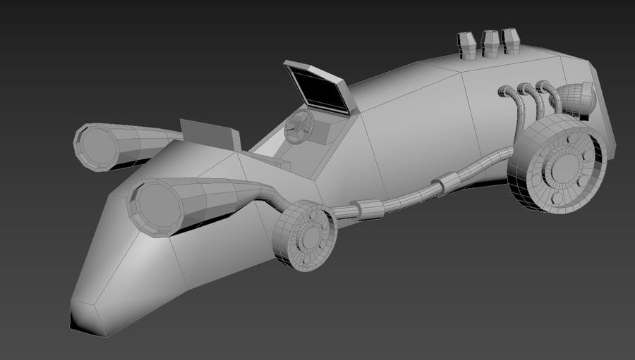 Concept Vehicle royalty-free 3d model - Preview no. 14