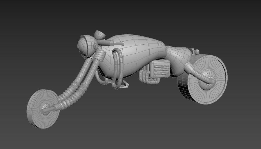概念摩托车 royalty-free 3d model - Preview no. 15
