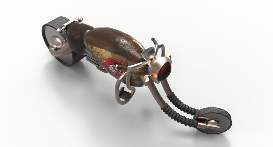 概念摩托车 royalty-free 3d model - Preview no. 9
