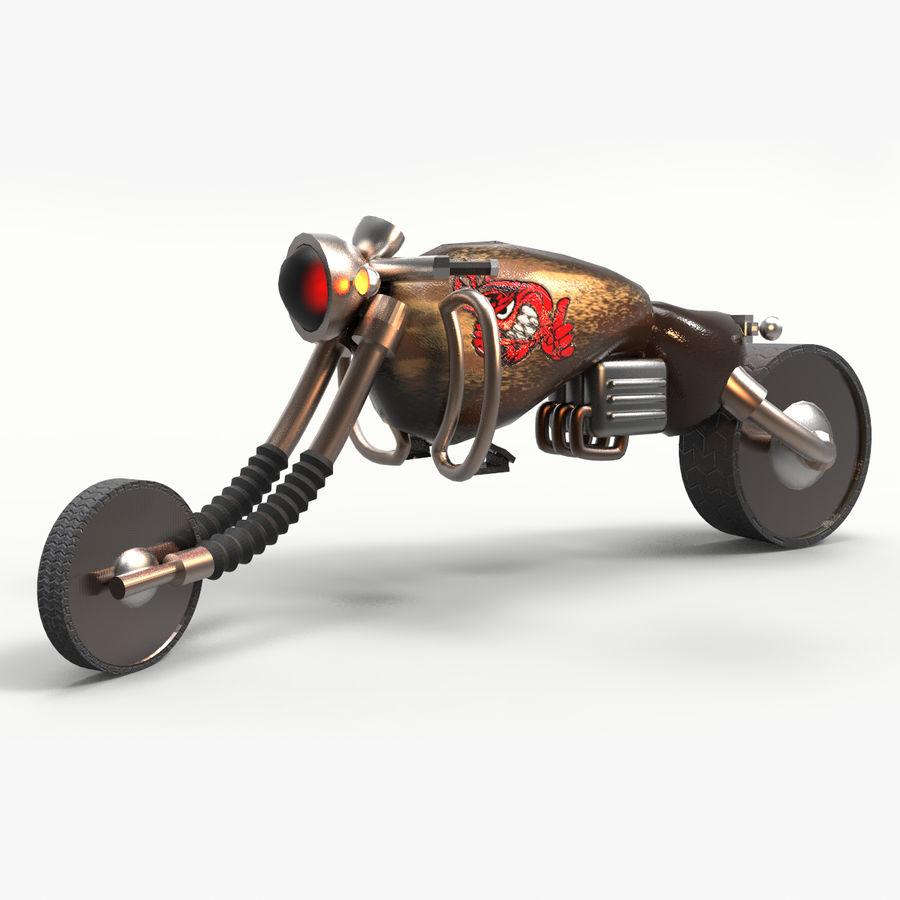 概念摩托车 royalty-free 3d model - Preview no. 1