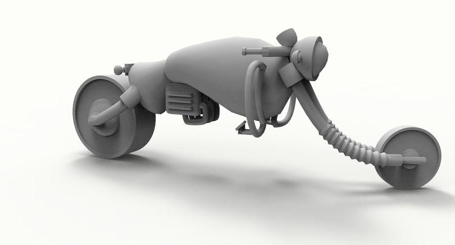 概念摩托车 royalty-free 3d model - Preview no. 14