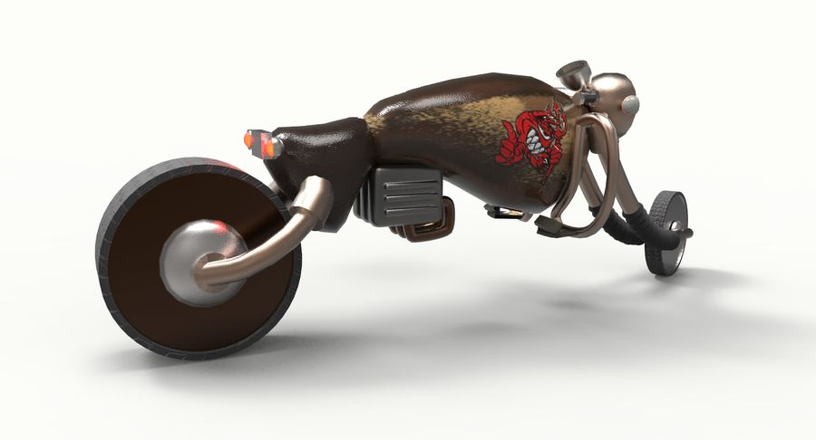 概念摩托车 royalty-free 3d model - Preview no. 4