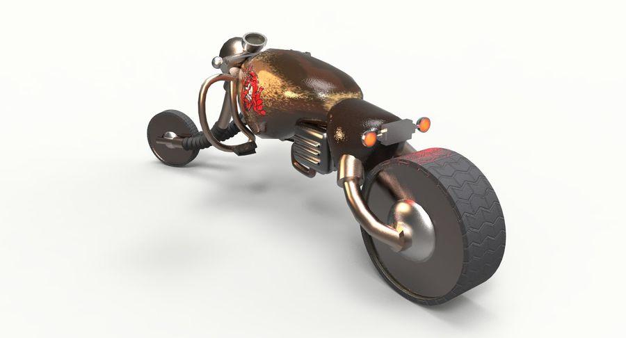 概念摩托车 royalty-free 3d model - Preview no. 8