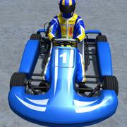 Low Poly Kart Z Graczem - 1 3d model