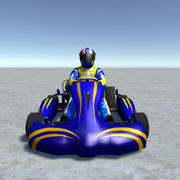 Low Poly Kart Z Graczem - 6 3d model