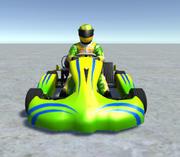 Low Poly Kart Z Graczem - 7 3d model