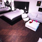 Hotel Room Scene 3d model